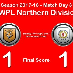 2017-18 Season Hull City LFC vs.CALFC FAWPL Northern Division 1