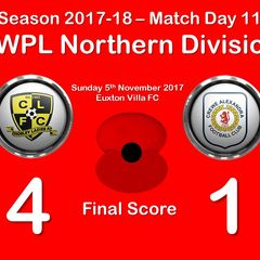 2017-18 Season Chorley Ladies FC vs.CALFC FAWPL Northern Division 1