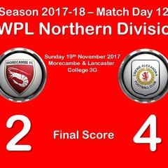 2017-18 Season Morecambe Ladies FC vs.CALFC FAWPL Northern Division 1