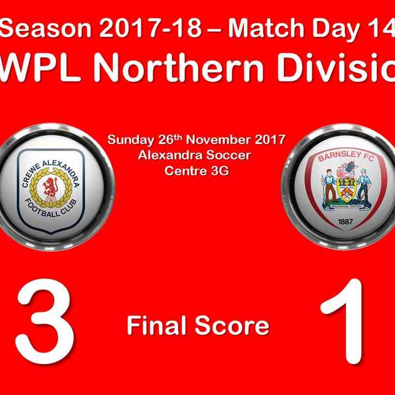 2017-18 Season CALFC vs. Barnsley FC Ladies FAWPL Northern Division 1
