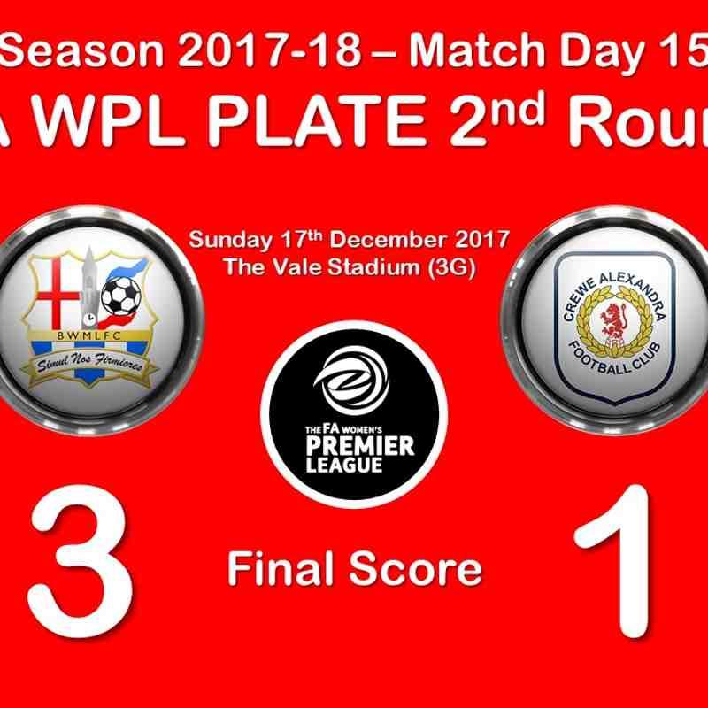 2017-18 Season Birmingham & West Midlands Ladies FC vs.CALFC FAWPL Plate R2