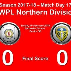 2017-18 Season CALFC vs. Leeds United Ladies FC FAWPL Northern Division 1