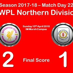 2017-18 Season Liverpool Feds vs. CALFC FC FAWPL Northern Division 1