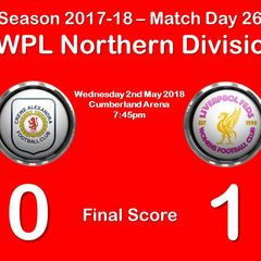 2017-18 Season CALFC vs. Liverpool Feds FAWPL Northern Division 1