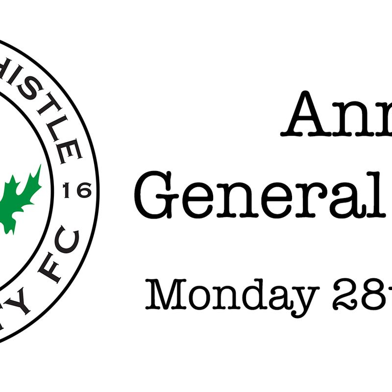 Notification of Dalkeith Thistle CFC Forthcoming AGM
