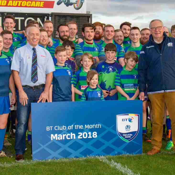 BT Club of the Month