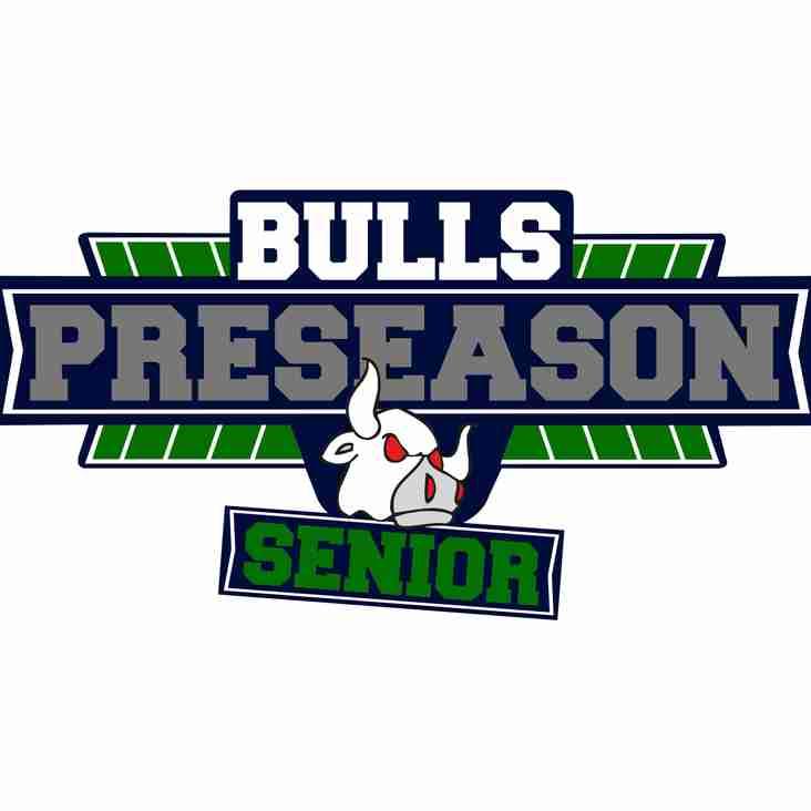 Senior Pre Season Fixtures