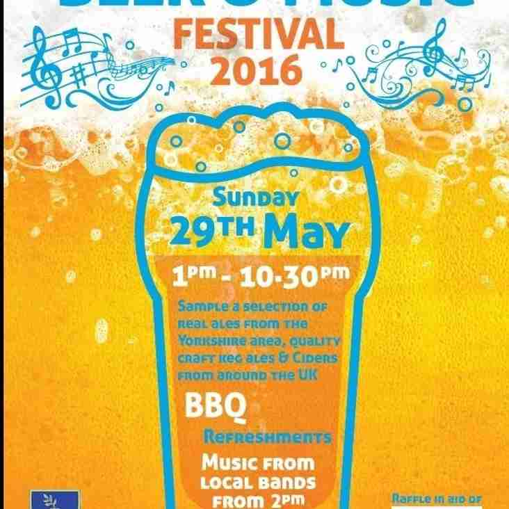 Details of 2016 Beer and Music Festival - Sunday 29th May
