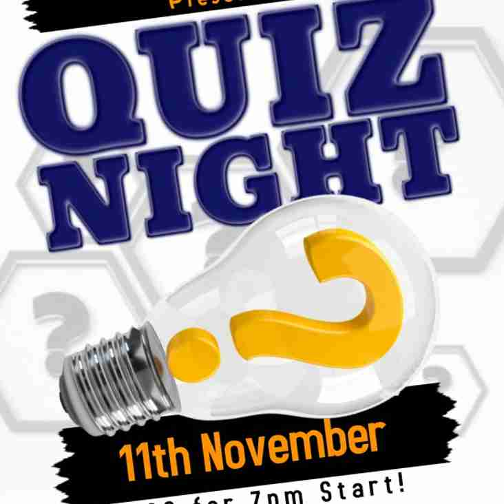 Quiz Night - 11th November 2017