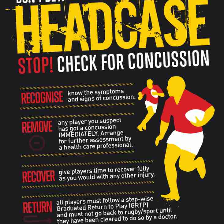 Concussion Advice/Reminder for the New Season