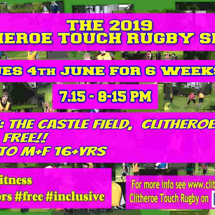 The 2019 Touch Rugby Series is Back