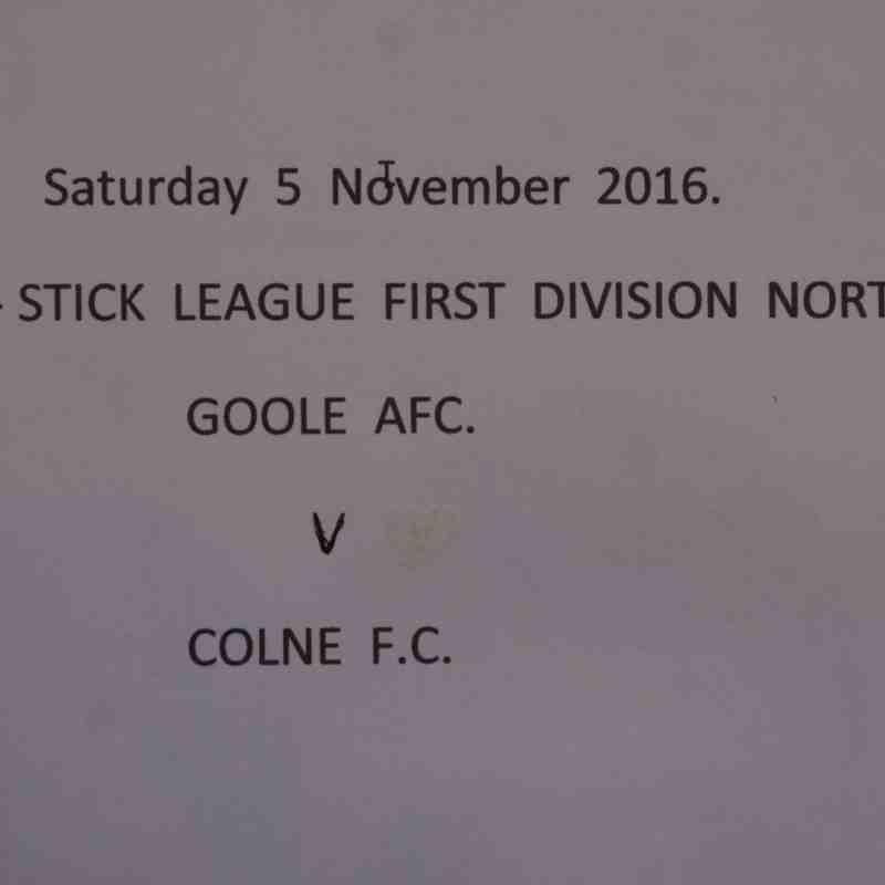 Goole AFC v Colne F C  5-11-2016