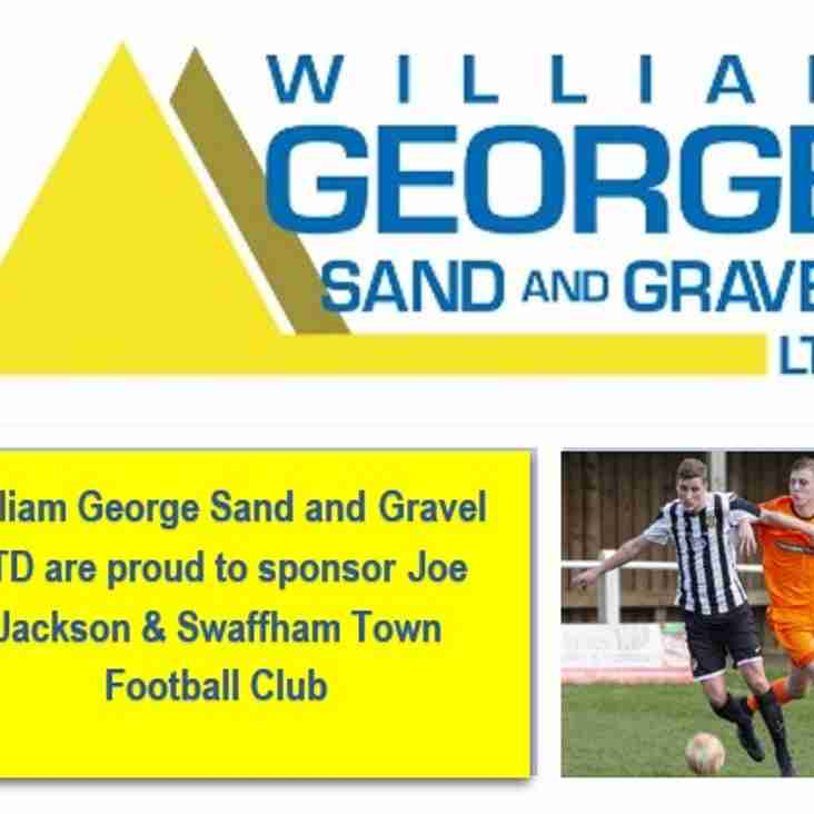 William George Sand & Gravel Ltd - Our sponsor for tomorrow nights cup game!