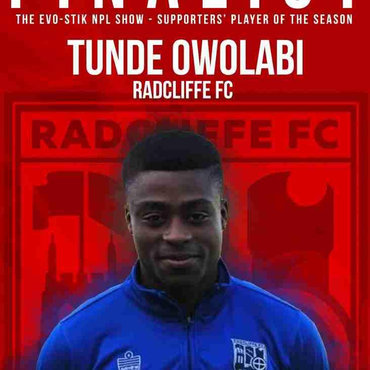 Tunde Owolabi nominated for League Award