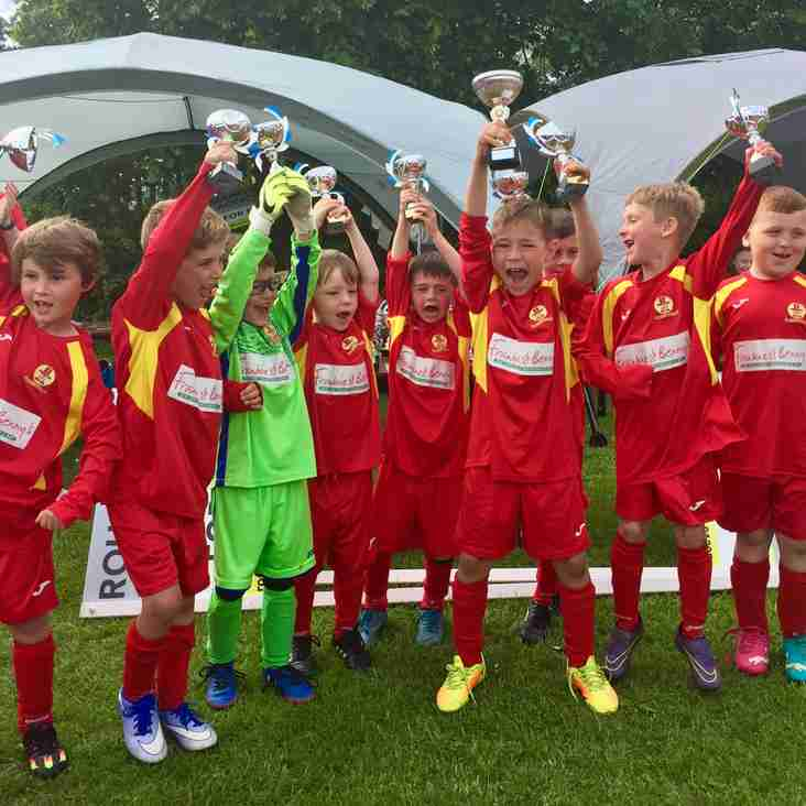 United's U7's win the Easington Tournament 2017