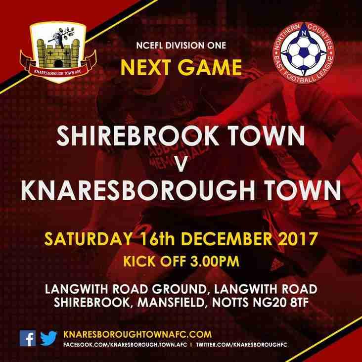 Shirebrook Town v Knaresborough Town
