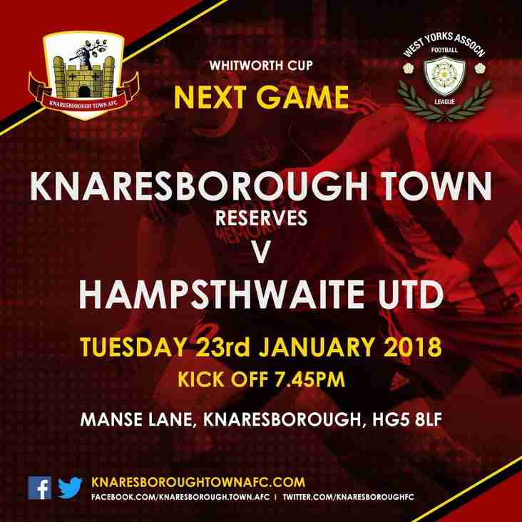 Knaresborough Reserves v Hampsthwaite Utd (Whitworth Cup)