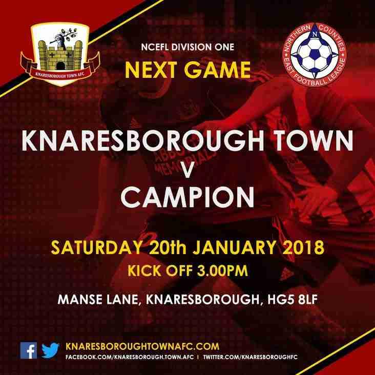 Knaresborough Town v Campion