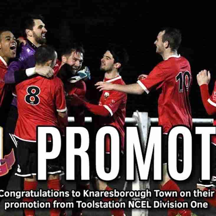 Knaresborough Town have been promoted!!!!