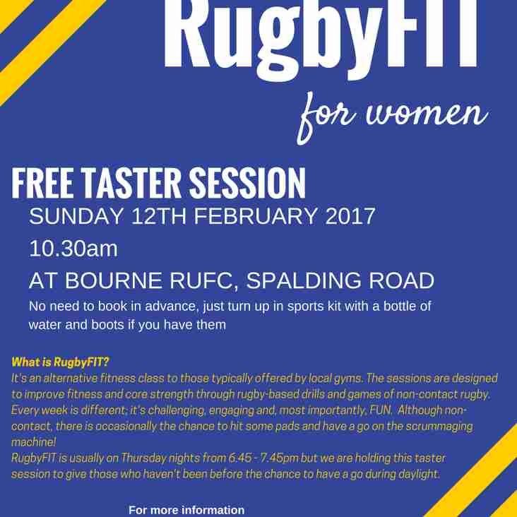 Women's RugbyFIT Taster Session coming soon