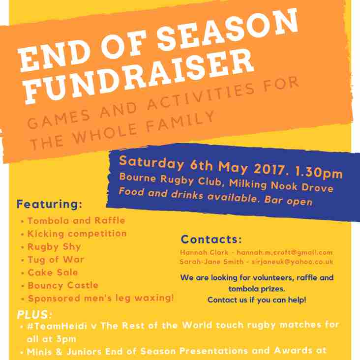 End of Season Fundraiser this Saturday