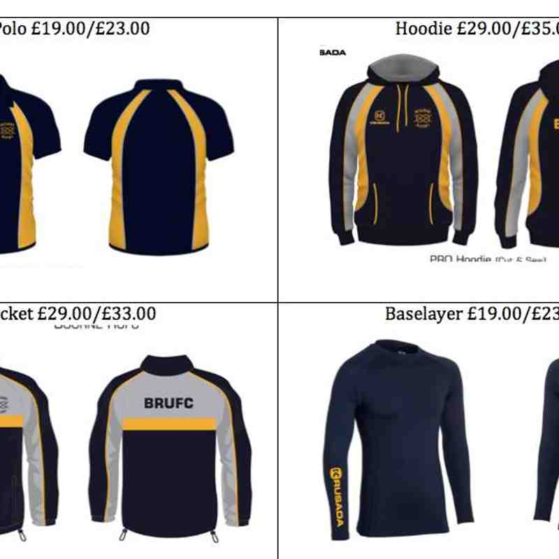 New BRUFC kit range 2017
