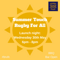 Summer Touch Rugby For All