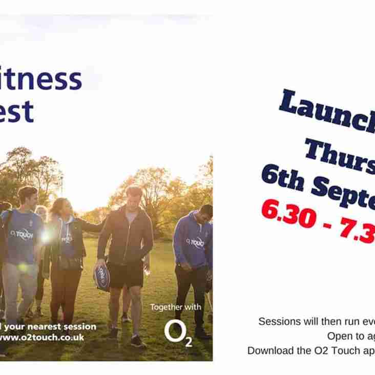 O2 Touch launches at BRUFC on Thursday 6th September