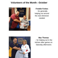 Volunteers of the month for October