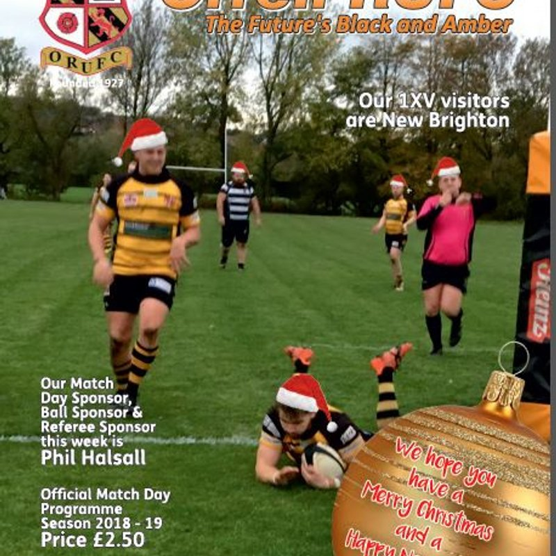 So, you've had the match report & the match video ... now read the Match Day Programme