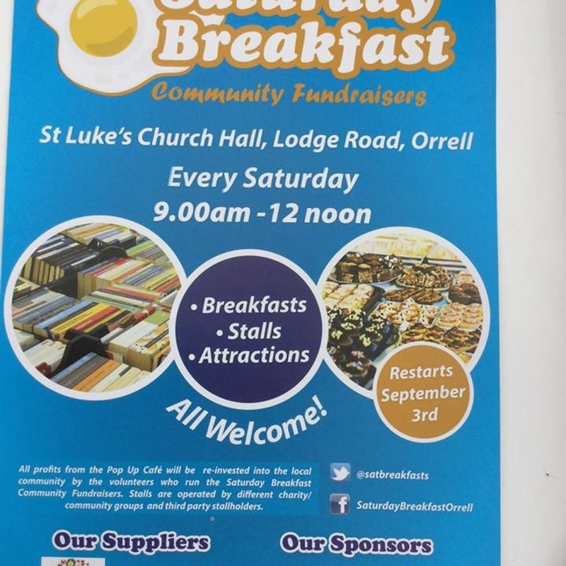 Come and join Orrell RUFC Mini and Junior Section for breakfast tomorrow .....