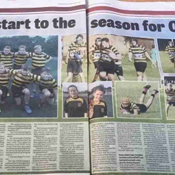 Wigan Evening Post showcase Orrell RUFC Mini and Junior Section