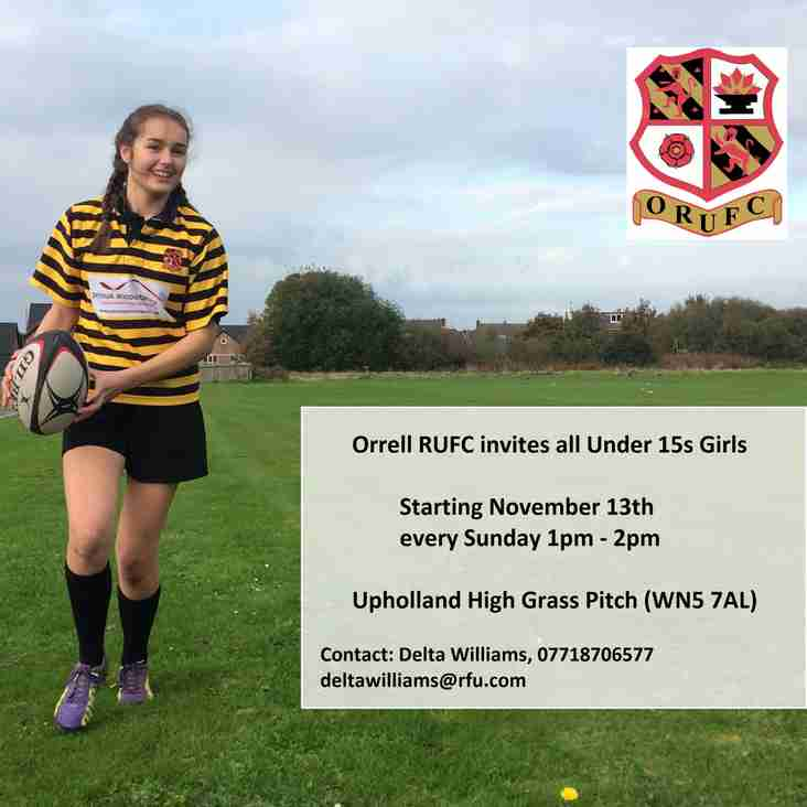 ORRELL RUFC GIRLS RUGBY SECTION