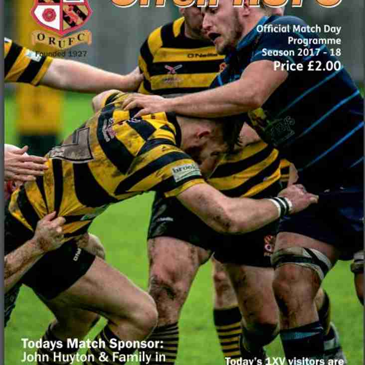 Orrell vs Heaton Moor Match Day Programme