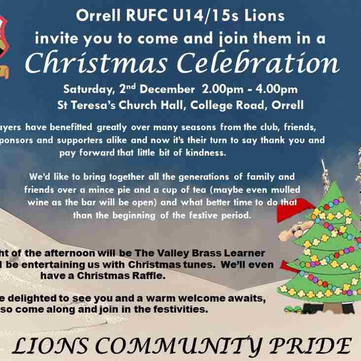 Come and get into the Christmas Spirit with our U14/U15s Lions