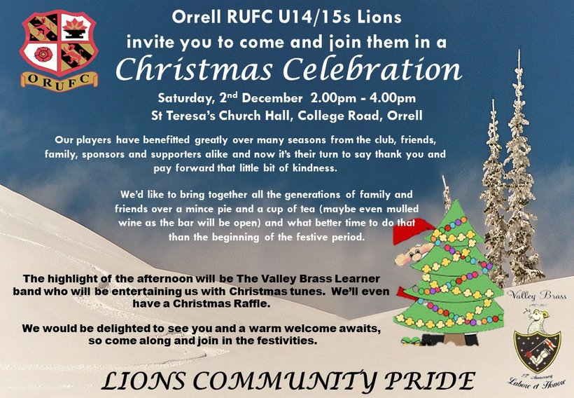 come and get in the christmas spirit with our u14u15 lions show more show less