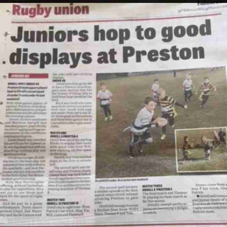 Appearing in the Wigan Evening Post today - our Mini and Junior U8s and U9s