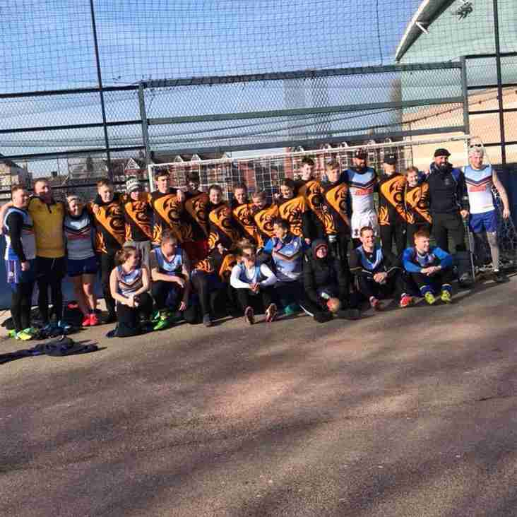 Touching the future in the black and amber .... our very own Orrell RUFC Touch Rugby