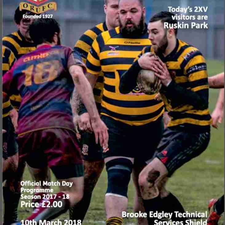 Another great read from Orrell RUFC in our Match Day Programme