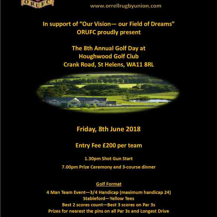 Don't forget our next great event is our Annual Golf Day on 8th June 2018
