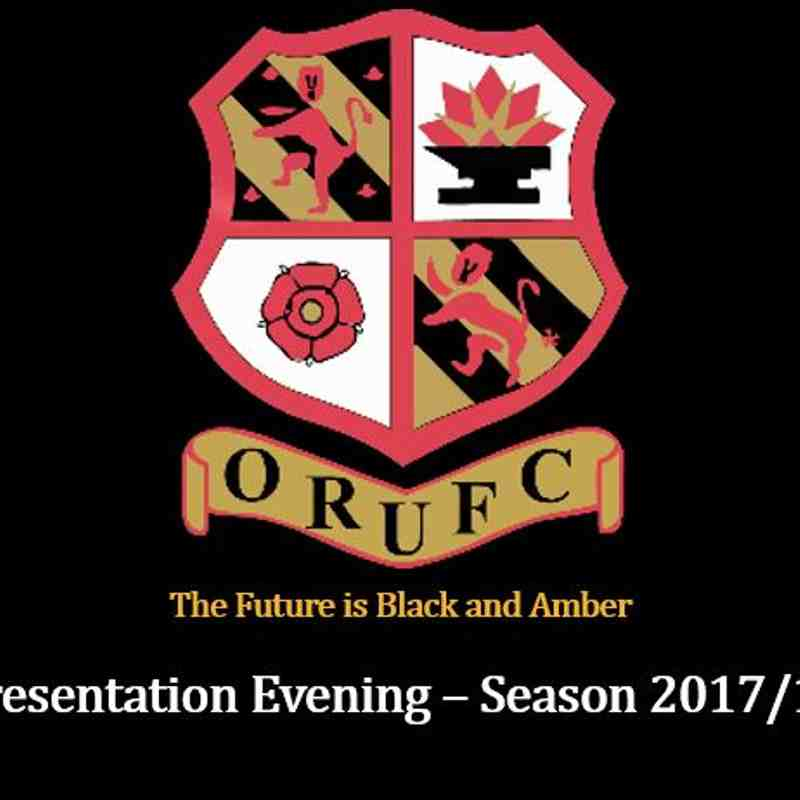 Presentation Evening (Open Age) 4 August 2018