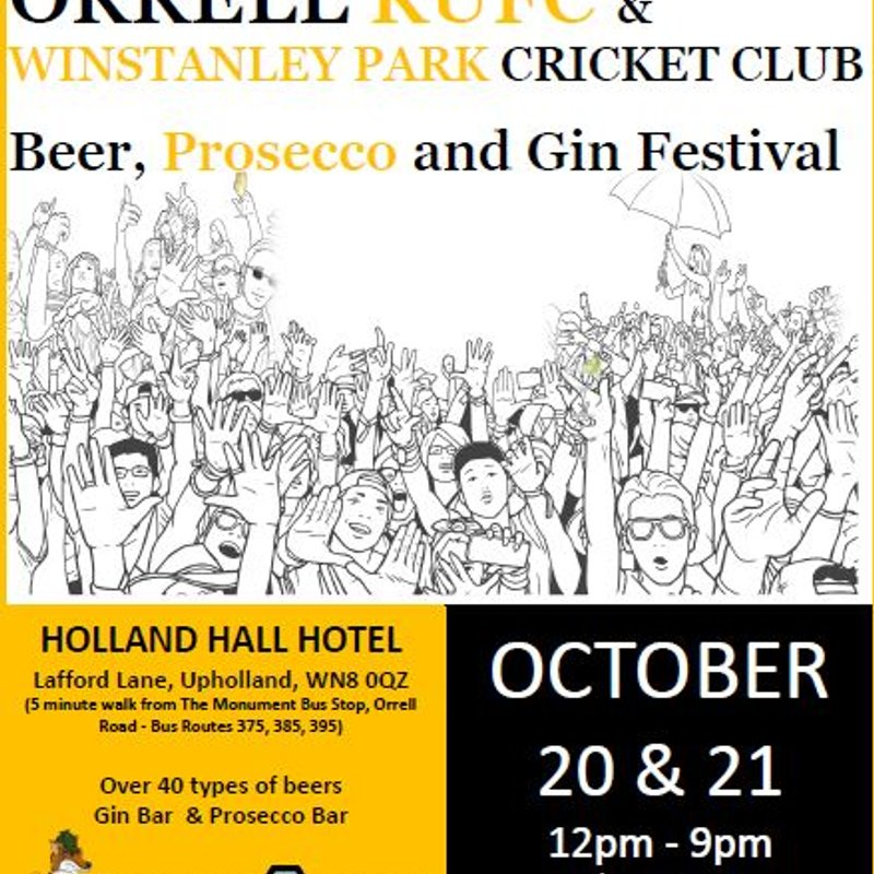 4 days and counting to our very first Orrell & Winstanley Octoberfest aka Beer, Gin & Prosecco Festival