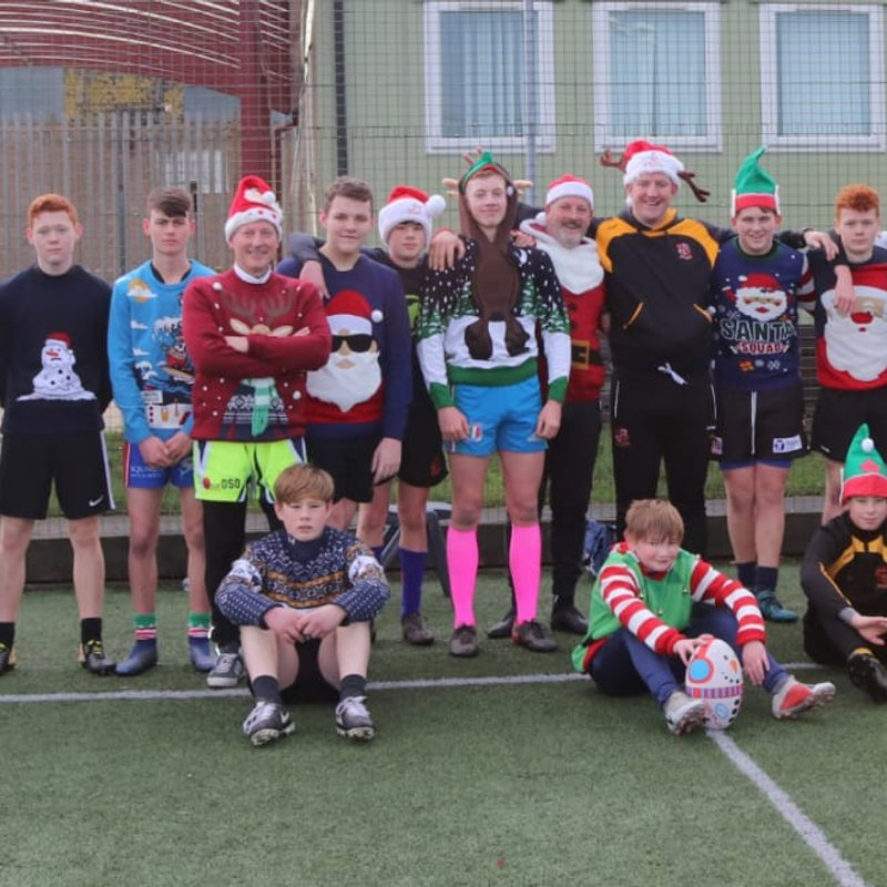 A great christmas morning of rugby for our U16s