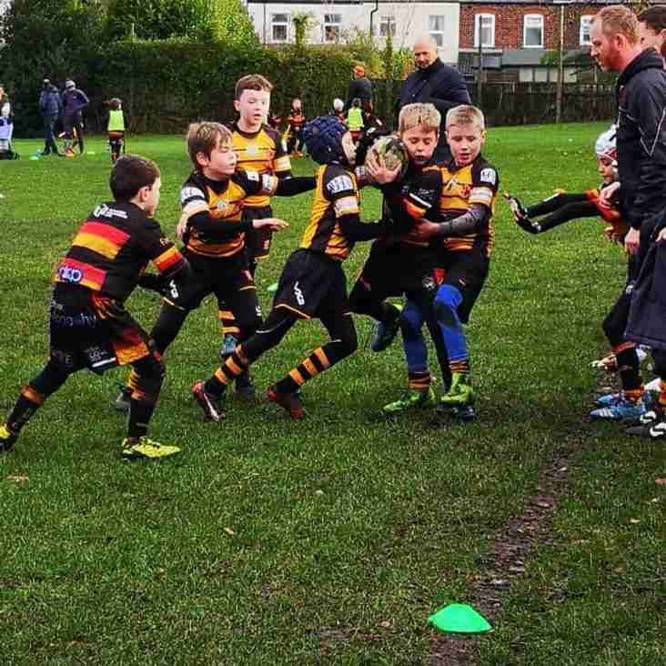 Another great display of tackling from our Orrell RUFC U9s