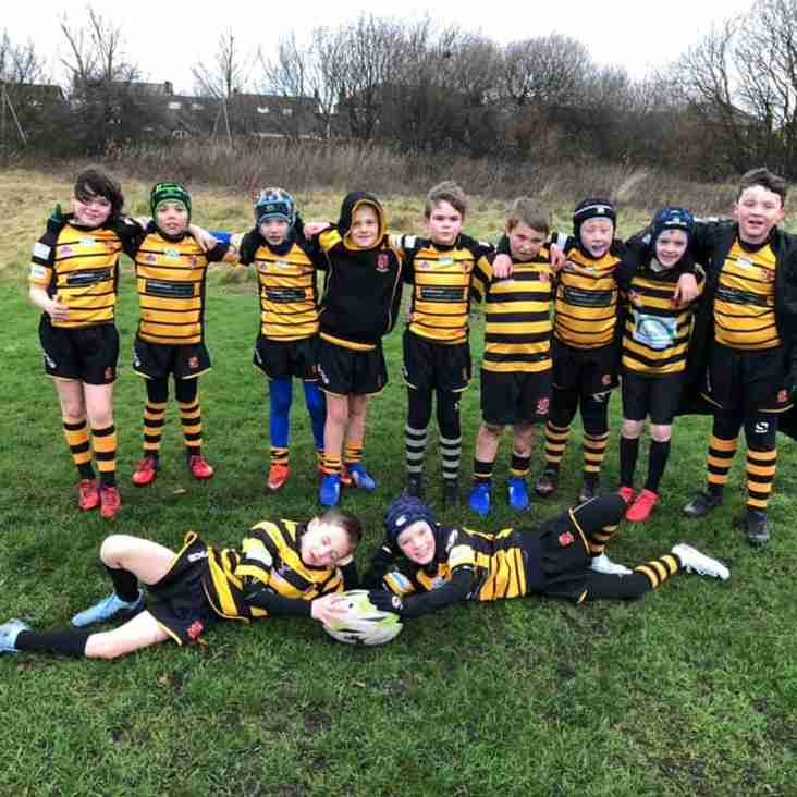 Another windy but fab morning of rugby for our U9s