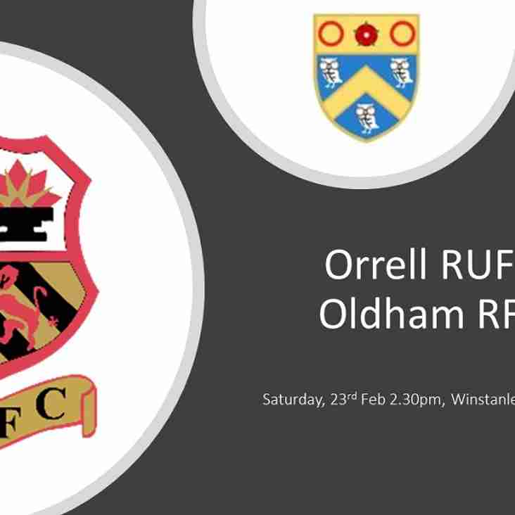 Coming up this weekend ORUFC vs ORUFC ????