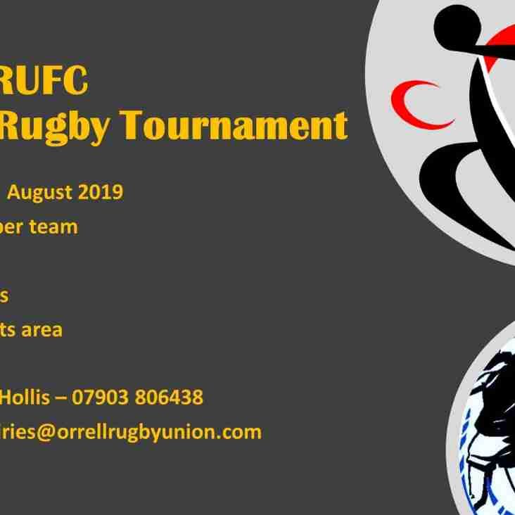 Have you entered your team for the Orrell RUFC Touch Tournament Yet?