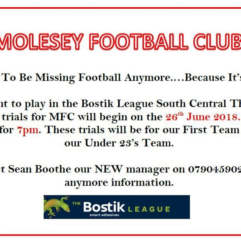 interested in playing isthmianLeague football and U23's