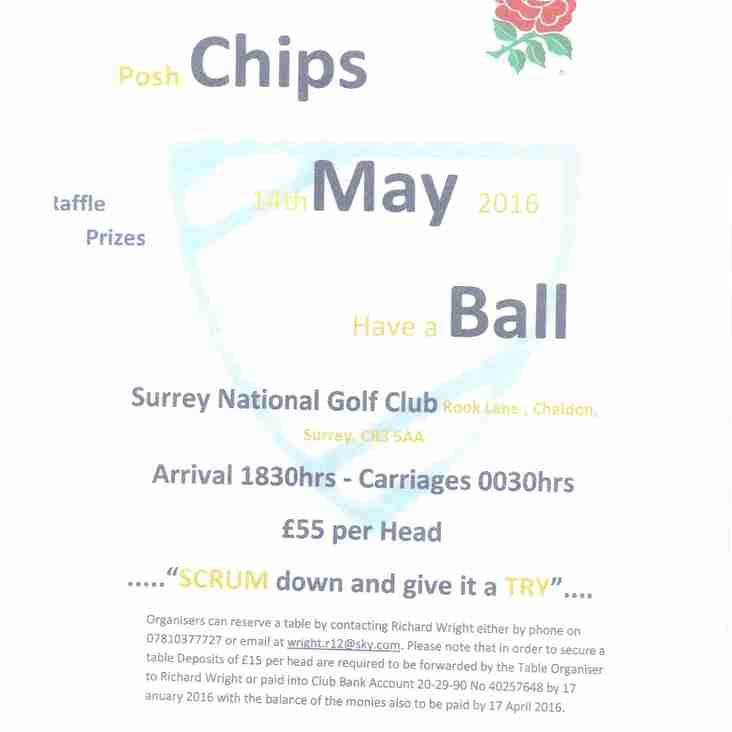 CHIPS May Ball 14/05/2016
