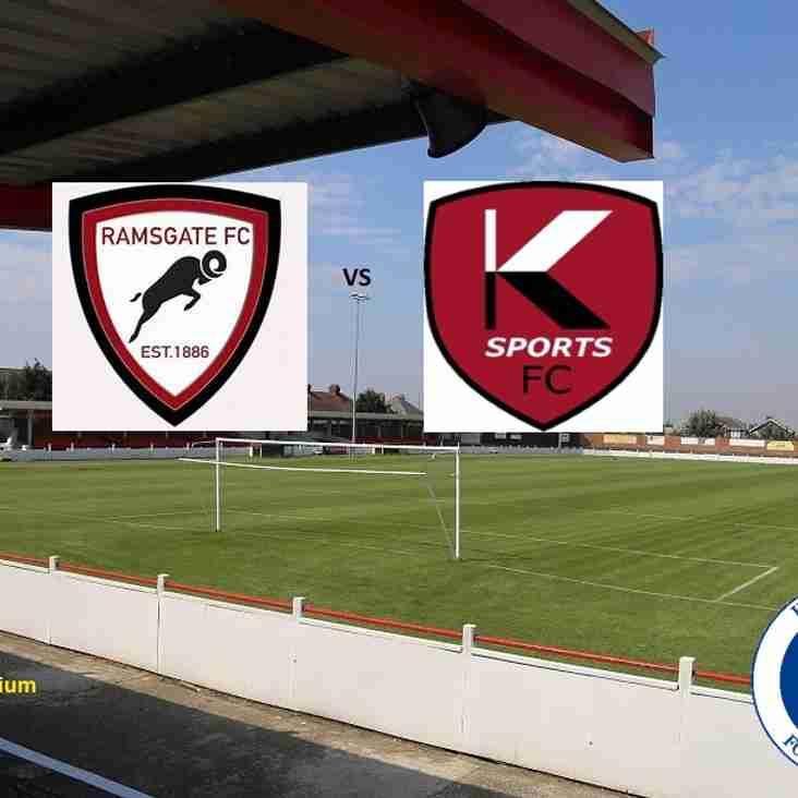 22 Sep Ramsgate Reserves Vs K Sports.